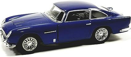 Amazon Com Kinsmart Navy Blue 1963 Aston Martin Db5 Hardtop 1 38 O Scale Diecast Car Toys Games