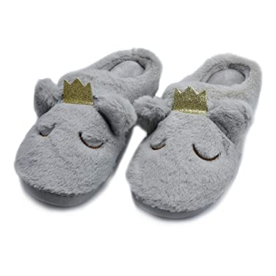 1153c9a3222 Kqpoinw Womens Slippers, Women's House Slippers Ladies Soft Plush Memory  Foam Slippers Non Slip Animal Warm Slippers Home Shoes Size 3 4 5 6 7 8