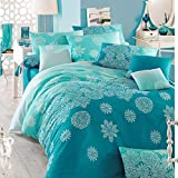 Eponj Home Double Quilt Cover Set, Duvet Cover 220 X 220 CM, Pillowcase: 50X70CM (2 pieces)