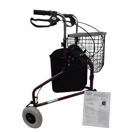 Amazon.com: NRS Healthcare – Andador con ruedas, tres Rueda ...