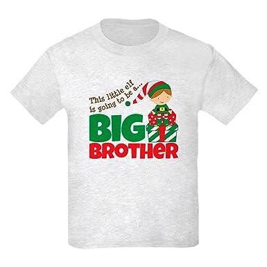 6643f6f8 CafePress - Elf Big Brother to Be Kids Light T-Shirt - Kids Cotton T