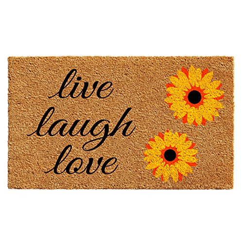 Mat Door Love (Home & More 102831729 Sunflower Live Laugh Love Doormat 17