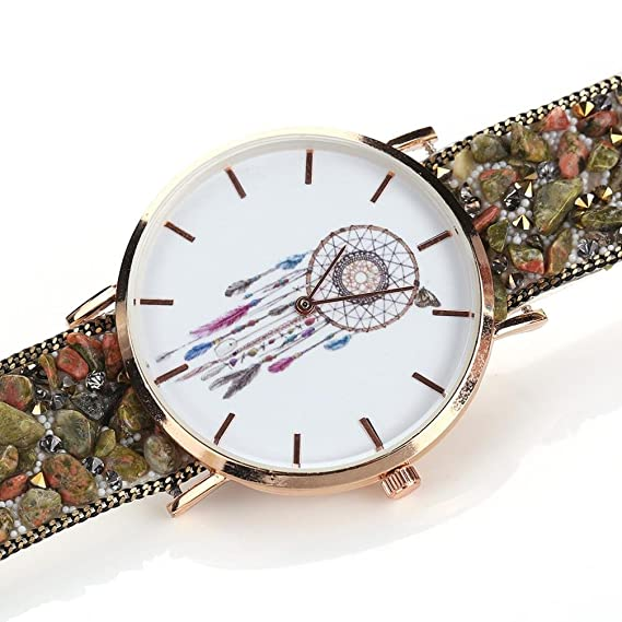 Reloj mujer koly Long Mujer especiales atrapasueños patrón Buzón de del paquete de pulsera Cobblestone Bosquejo