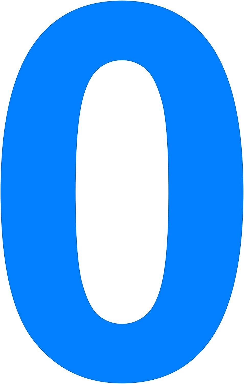 0 Gr/össe L = 10 cm Sticker   braun Vinyl Glanz Hausnummer passende /Übertragungsfolie Scrapbook das-label Beschriftung 100 mm Selbstklebende gestanzte Zahl Nr