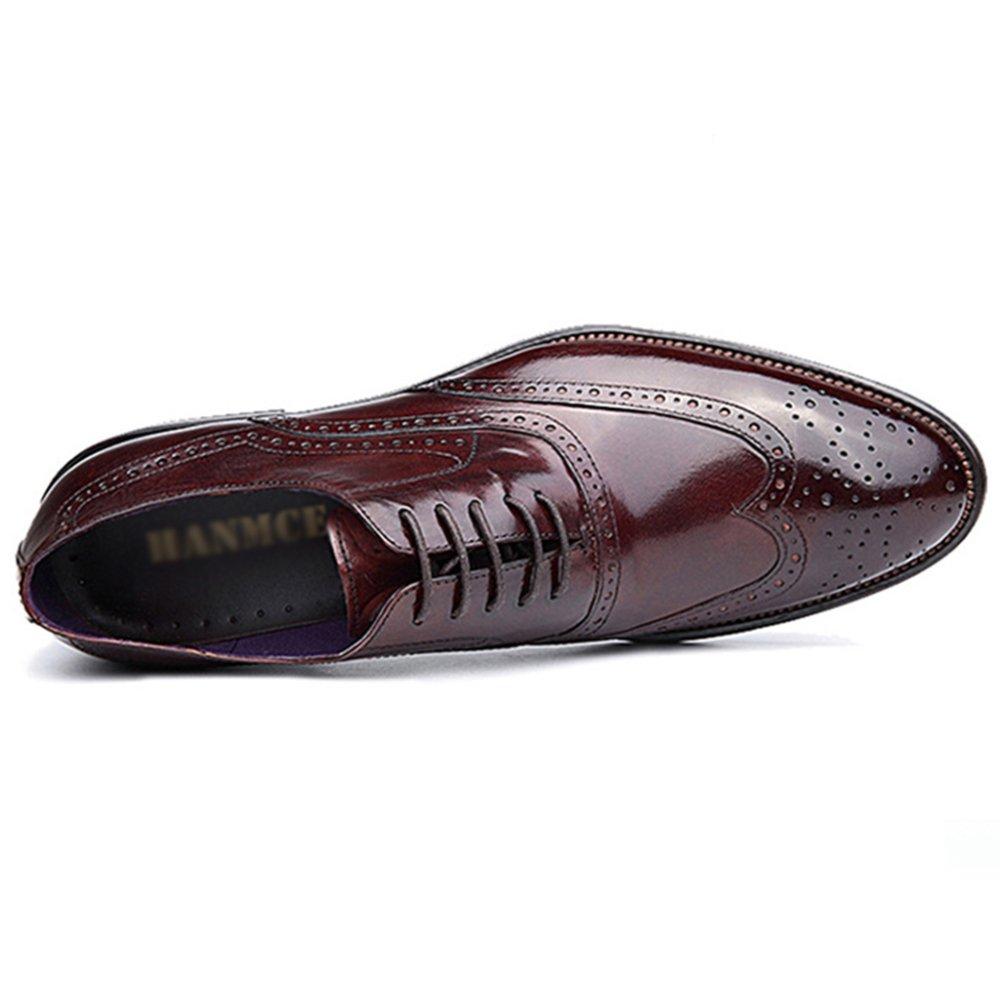 Kleid Schuhe Aus Echtem Classic Leder Brogue Herrenschuhe Casual Classic Echtem Oxford Schuhe Für Männer Office-Jobs ROT 1d8bcf