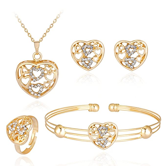 iLH Rhinestone Jewelry Sets 4-...
