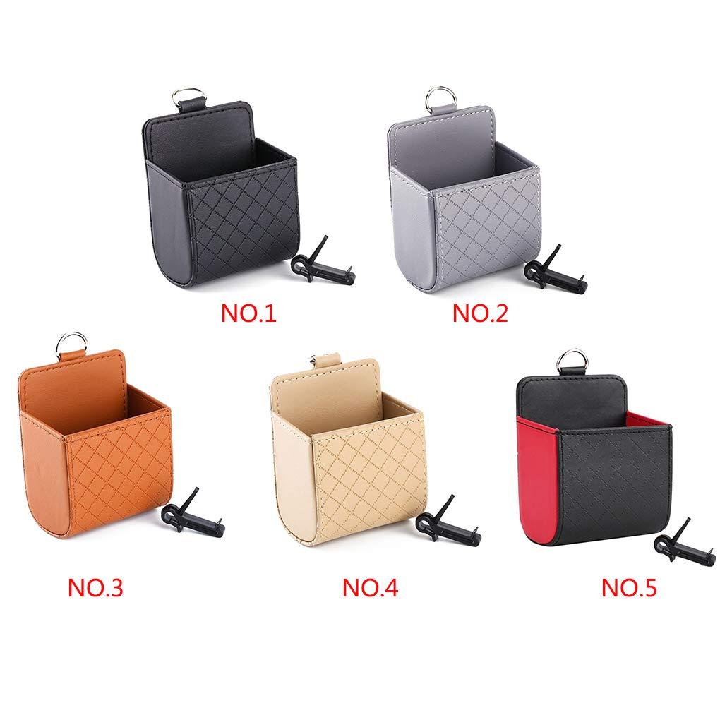 Provide The Best Auto in Pelle Superfiber PU Montato Uscita Aria Supporto del Telefono Accessori per la Pouch Pocket Bag Storage della Moneta di Caso di Veicoli