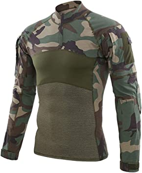Specter Camisa táctica de Militar Airsoft Manga Larga Camisetas Algodón elástico Antibacteriano Transpirable para Hombres (Talla S-XXXL): Amazon.es: Deportes y aire libre
