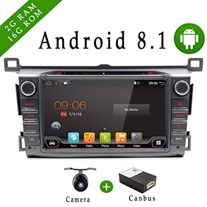 8 Inch 2G RAM Android 7 1 Double din Car Stereo GPS Radio for Toyota RAV4  2013-2015 Touch Screen GPS Navigation Audio Support DAB OBD TPMS FM AM SWC