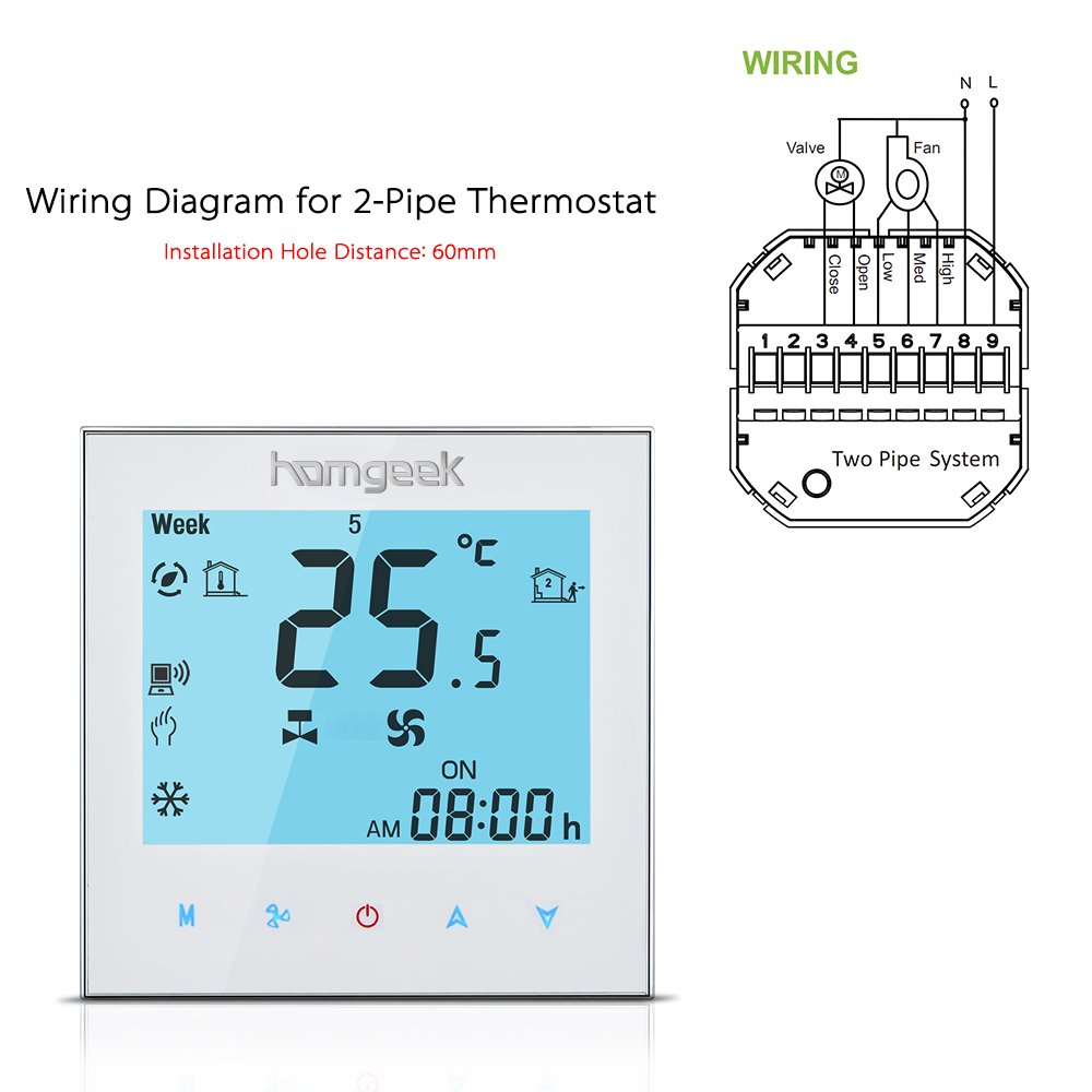 wiring diagram for a pipe thermostat efcaviation com Furnace Thermostat Wiring Digital Thermostat Wiring