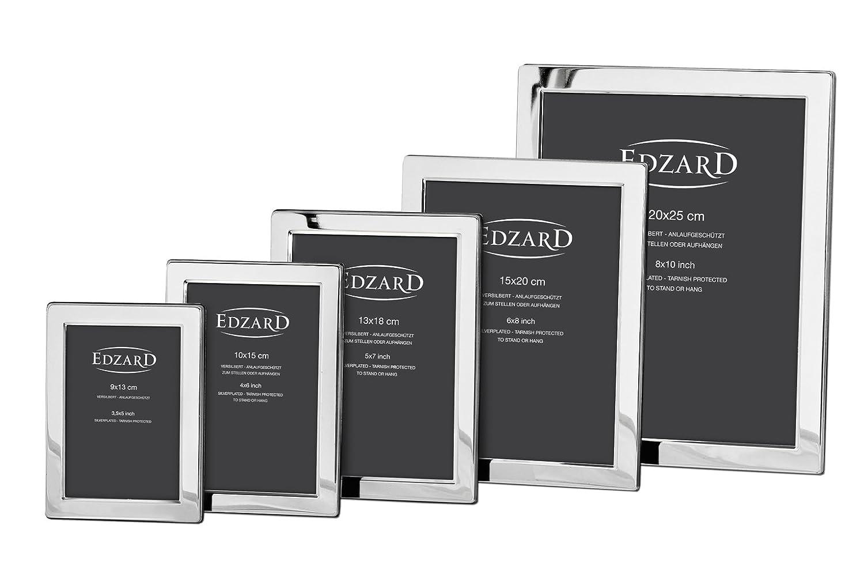 EDZARD portafotos Salerno, marco de fotos, chapado en plata, 13 x 18 cm: Amazon.es: Hogar