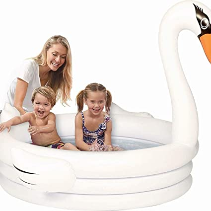 SUNXIAOYIGN Piscina Hinchable Infantil Intex- Swan Island ...