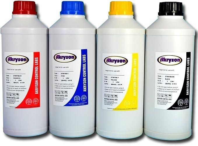 Tinta a granel para recarga cartuchos compatible Epson pack 4 Litros Pigmentada: Amazon.es: Electrónica