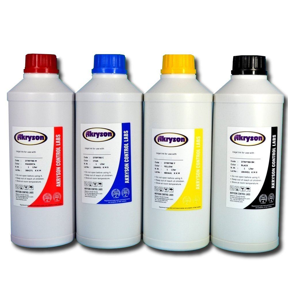 Tinta para recarga compatible Epson pack 4 botellas de litro ...