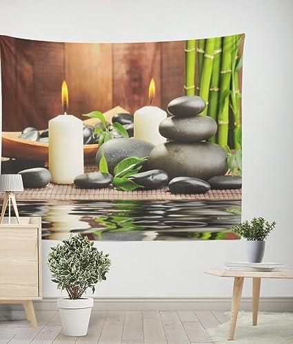 Amazon com: Contemporary Zen Giclee Canvas Bamboo Green