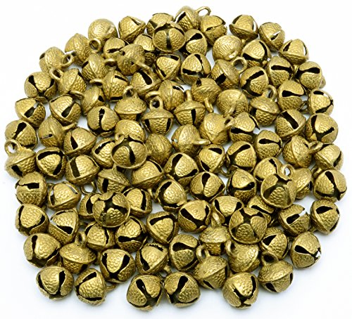 Lot of 50 Pcs Vintage Indian Camel Horse Sheep Sleigh Brass Bells 22mm Ht Décor ()