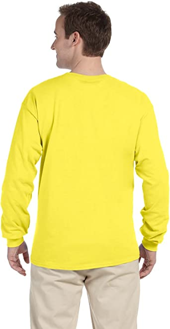 2 Pack FoTL 4930 Mens Heavy Cotton Long-Sleeve Tee XL Black Heather