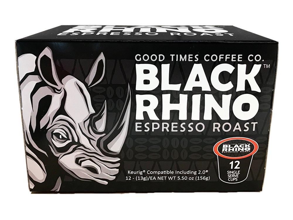 Good Times Coffee Co. Black Rhino Espresso Roast Cups