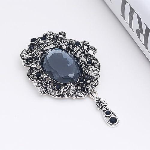 ce05b5f50c731 Amazon.com: Top luxury Black big Brooch pins crystal Rhinestone ...