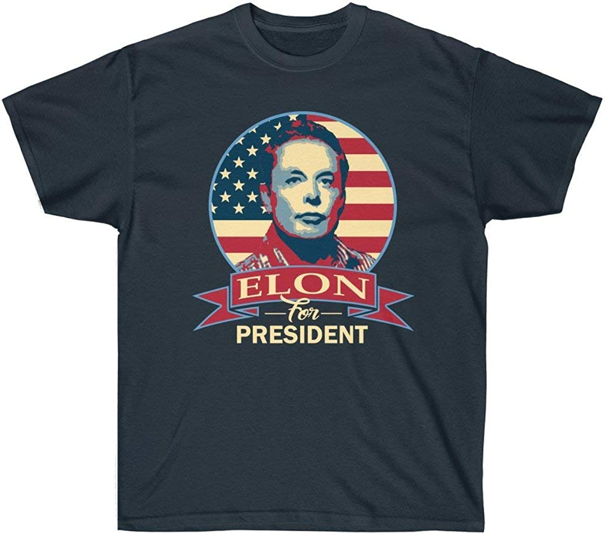 Shop Shop USA Elon for President Funny Political Parody Unisex Ultra Cotton Tee