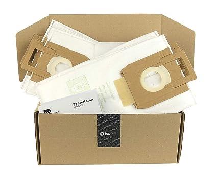 SpareHome 10 Bolsas + 2 microfiltros recortables para Aspirador Nilfisk Select Modelos: Select Todas Las Series, CO 107407639-1470416500