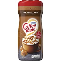 Caramel Latte Powder Coffee Creamer 15 Oz. Canister | Pack of 6 | Non-dairy, Lactose Free Creamer - new