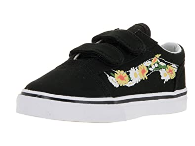 d1157228dd4f Vans Toddlers Old Skool V (Daisy) Black True White Skate Shoe 7 Infants