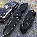 "Best Mtech USA Cheap Pocket Knives - SairusPlay 8.5"" USMC MARINES EXTRACTOR MTECH USA SPRING Review"