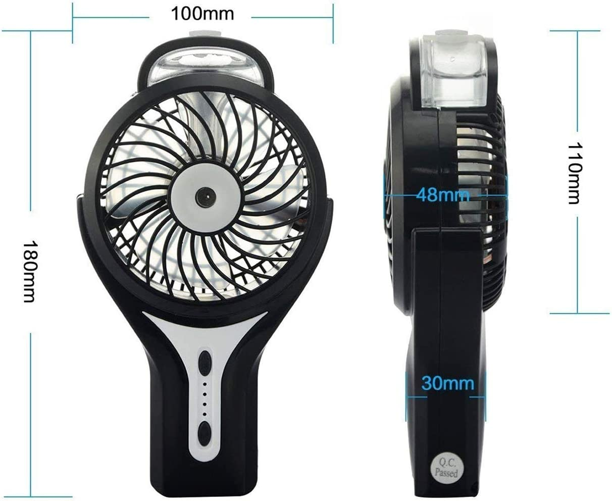 Air Cooler Handheld USB Misting Fan with Air Cooling Mist Humidifier Rechargeable Portable Mini Misting Cooling Fan