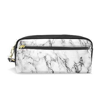 Estuche, pluma bolsa Maquillaje bolsa cartera gran capacidad mármol resistente al agua de los estudiantes o mujeres