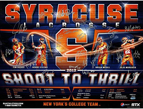 Syracuse Lacrosse Team Signed 2012 Schedule Collage 18x24 - Steiner Sports Certified - College Player Plaques and Collages ()