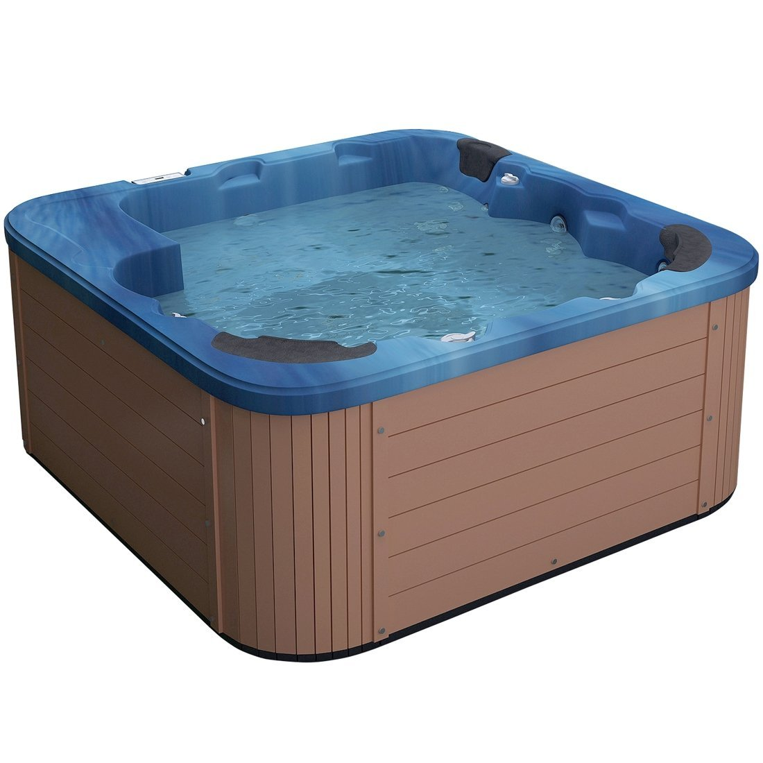 Outdoor Spa - Jacuzzi - Heated - 40 Jets - Acrylic and Wood - Blue ...