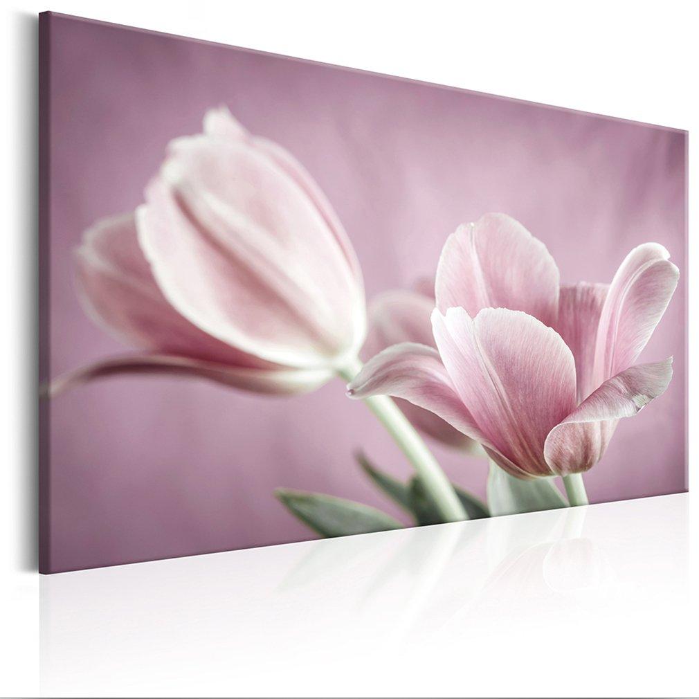 Decomonkey Akustikbild Blumen 90x60 cm 1 Teilig Bilder Leinwandbilder Wandbilder XXL Schallschlucker Schallschutz Akustikdämmung Wandbild Deko leise