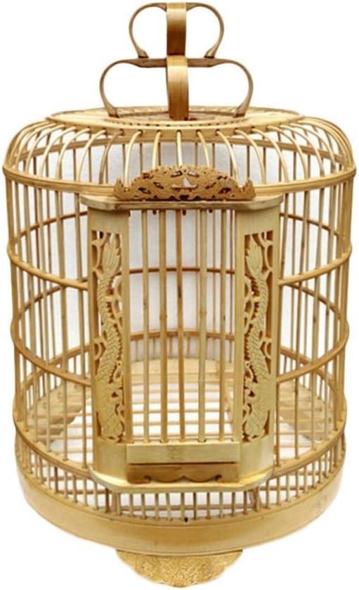 Jaula De Pájaros De Madera Arte De Tejido De Bambú Casa De Loros por Periquito Pájaros del Amor Mejilla Verde Canario Perico Cacatúa Nidos para pájaros (Color : Birdcage)