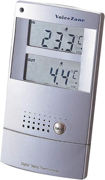 Indoor//Outdoor Taking Thermomter Alarm Clock NEW