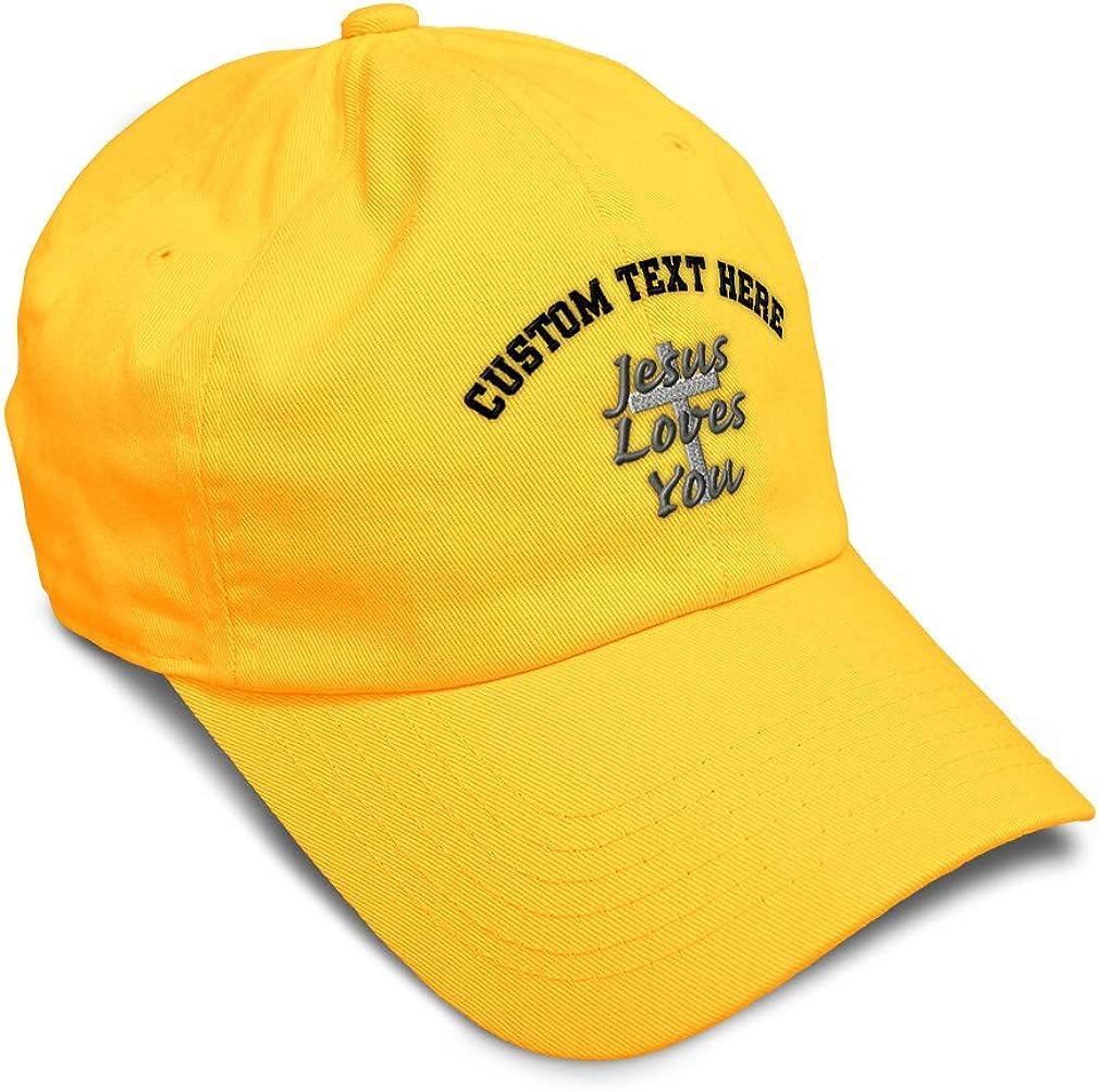 Custom Soft Baseball Cap Jesus Loves You Embroidery Dad Hats for Men /& Women