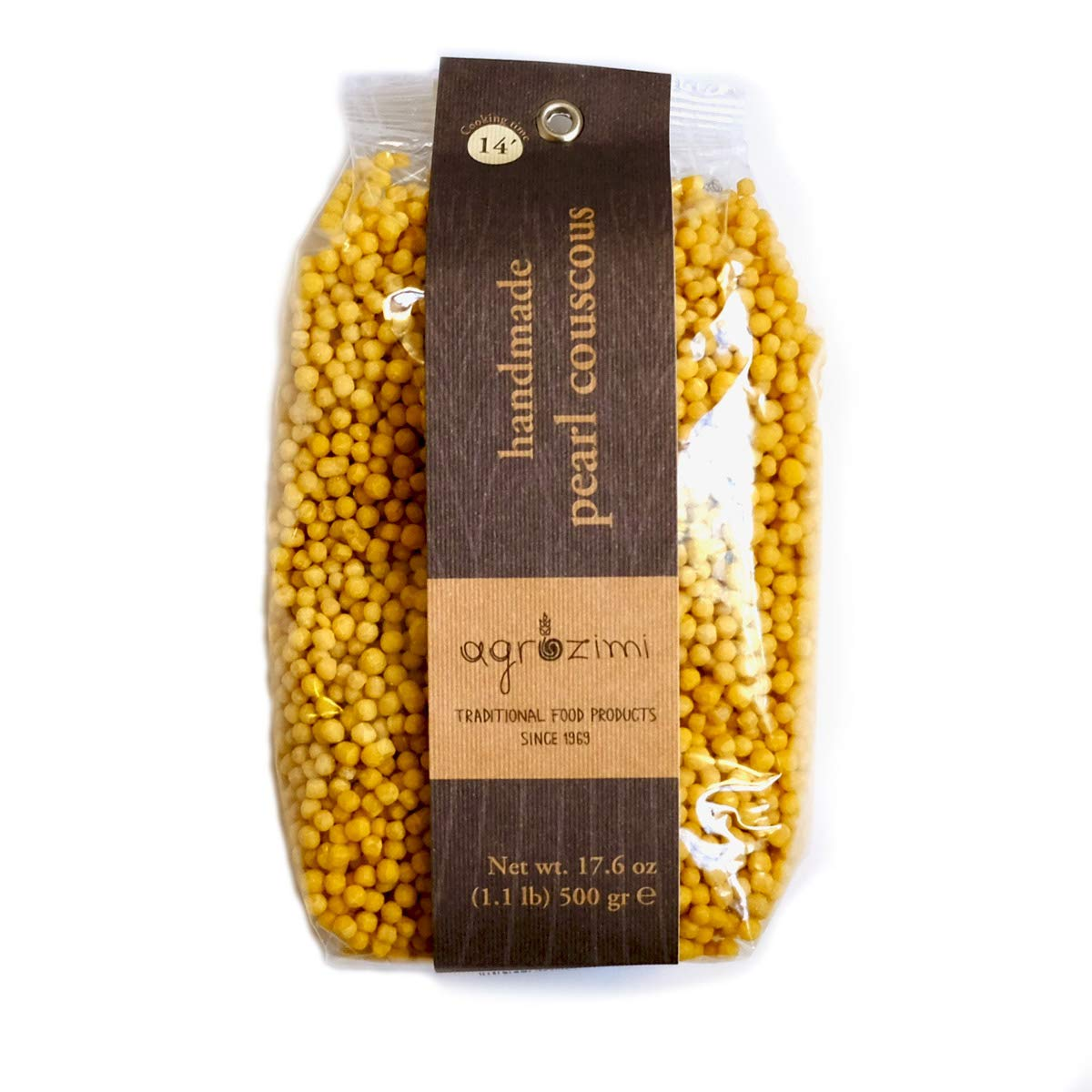 Agrozimi Traditional Greek Handmade Pearl Couscous (17.6 Ounces, 500 Grams) by Agrozimi