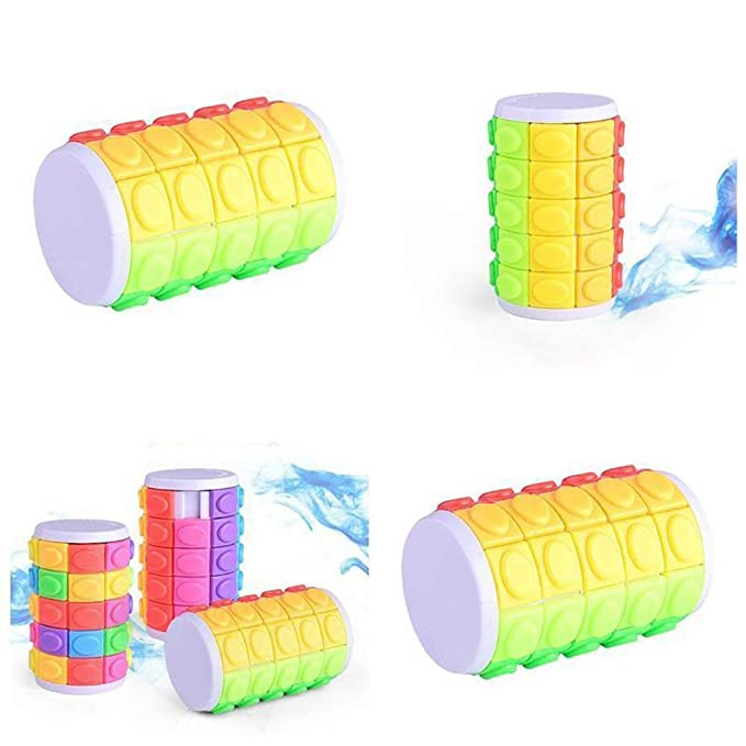 3D Rotate Slide Magic Cube Cylinder Tower Beads Puzzle Fidget toy Fingertip Gift