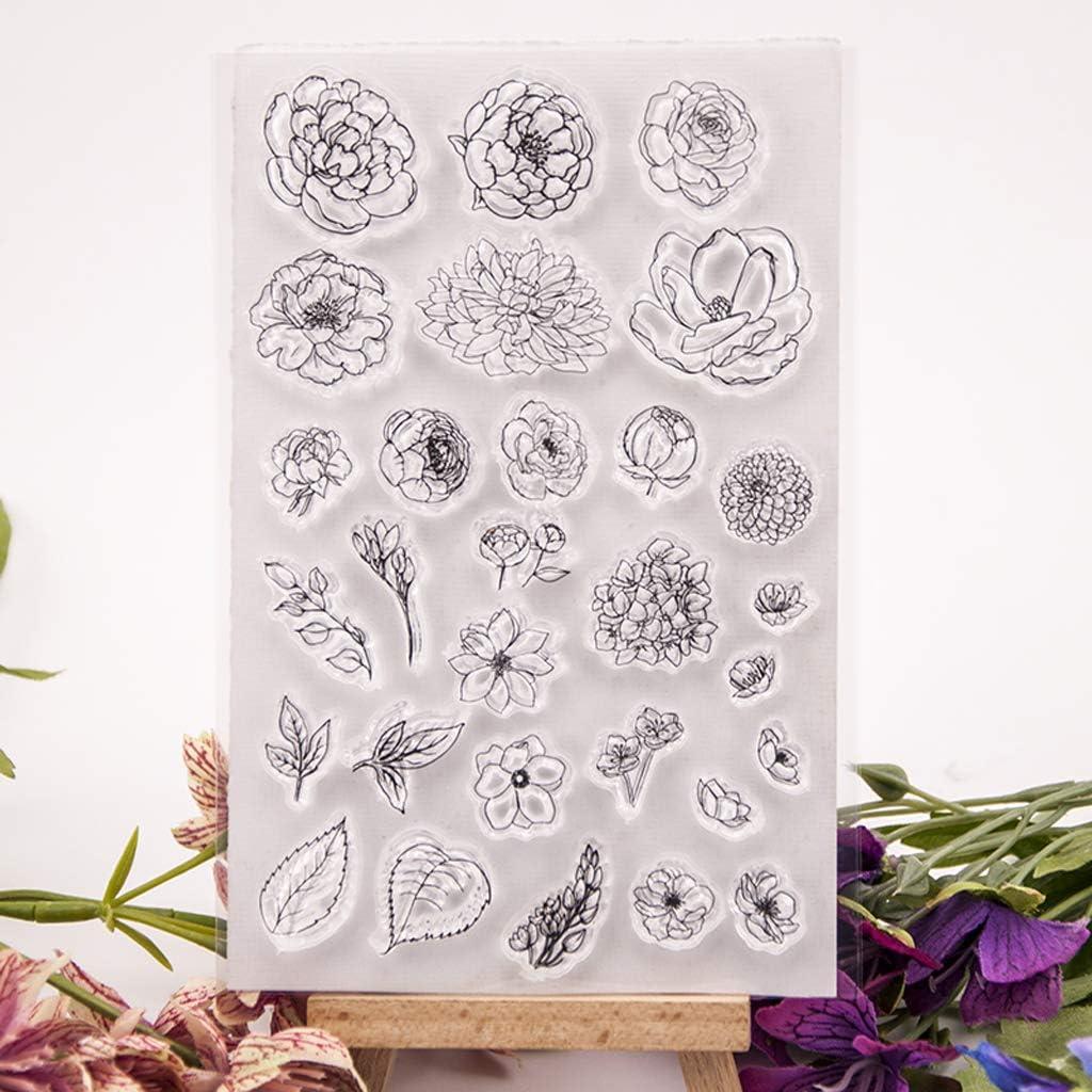 Fiore Silicone Clear Seal Timbro Fai da Te Scrapbooking Goffratura Album Fotografico Carta di Carta Decorativa Artigianato Regalo Fatto a Mano Bogji