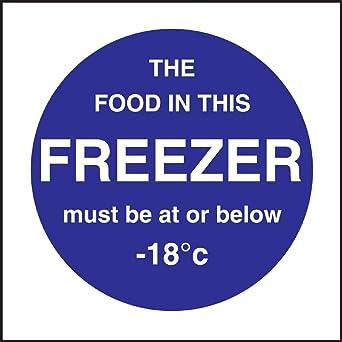 Alimentación en este congelador Sign restaurante Catering vinilo ...