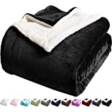 LBRO2M Sherpa Fleece Bed Blanket Queen Size Super Soft Fuzzy Plush Warm Cozy Fluffy Microfiber Couch Throw Velvet Double Reve