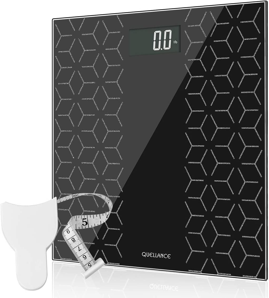 High Precision Digital Electronic Scales for Body Weight Bathroom Scale with Large Backlit Display, Non-Slip Platform, Up to 400 Pounds, Body Tape Measure Include, Most Accurate Weighing Scale