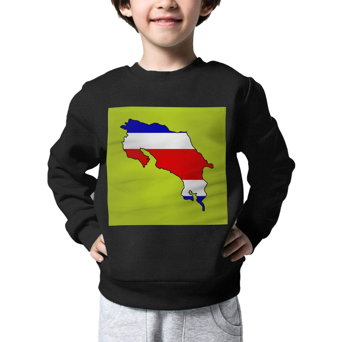 AW-KOCP Childrens Costa Rica Flag Map Sweater Baby Girls Outerwear