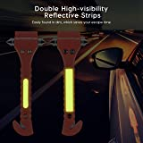 Focustar Escape Tool 2 Pack for Car, Auto Emergency Safety Hammer with Car Window Glass Breaker and Seat Belt Cutter
