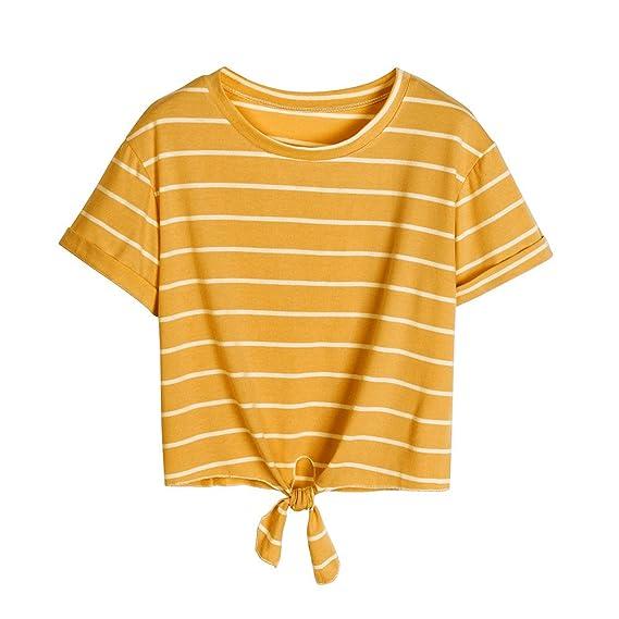 Damark(TM) Ropa Camisetas Mujer, Camisas Mujer Verano Elegantes Rayas Casual Tallas Grandes