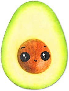 Avocado Blanket,Cute Cartoon Fruit Food Blankets,Avocado Plush Blanket for Kids and Adult,Soft and Comfortable Light Round Beach Blanket for Bed Sofa Travel and Couch Cover (60''×80'')