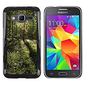 "For Samsung Galaxy Core Prime / SM-G360 , S-type Forrest Sun"" - Arte & diseño plástico duro Fundas Cover Cubre Hard Case Cover"