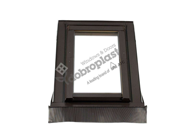 AFG Schwingfenster Dachfl/ächenfenster Skylight Dachfenster Schwingfenster PVC 66 x 118 mit Eindeckrahmen f/ür Dachziegel Au/ßenfarbe Dunkelbraun BLITZVERSAND!!
