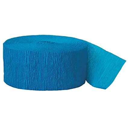 cd59d221525 Amazon.com: 81ft Turquoise Crepe Paper Streamers: Kitchen & Dining