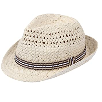 a64e36f7b2e Gespout Children Outdoor Wide Brim Sun Hat Panama Foldable Fedora Cap Beach  Vacation Hat with Flowers